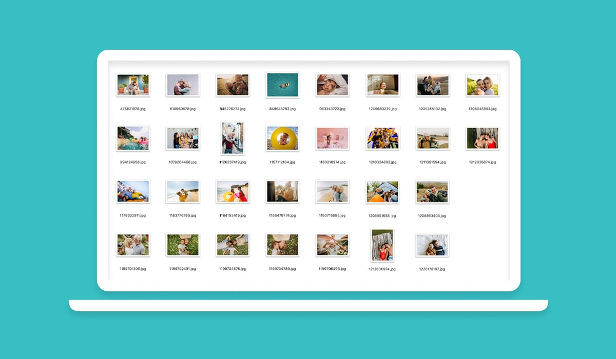 A screenshot of an image folder, full of holiday snaps, on a Windows computer.