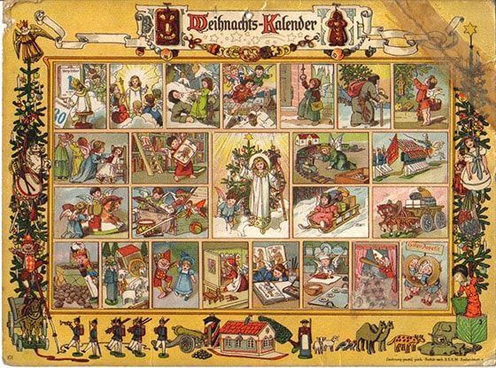 Adventskalender Vintage-Design