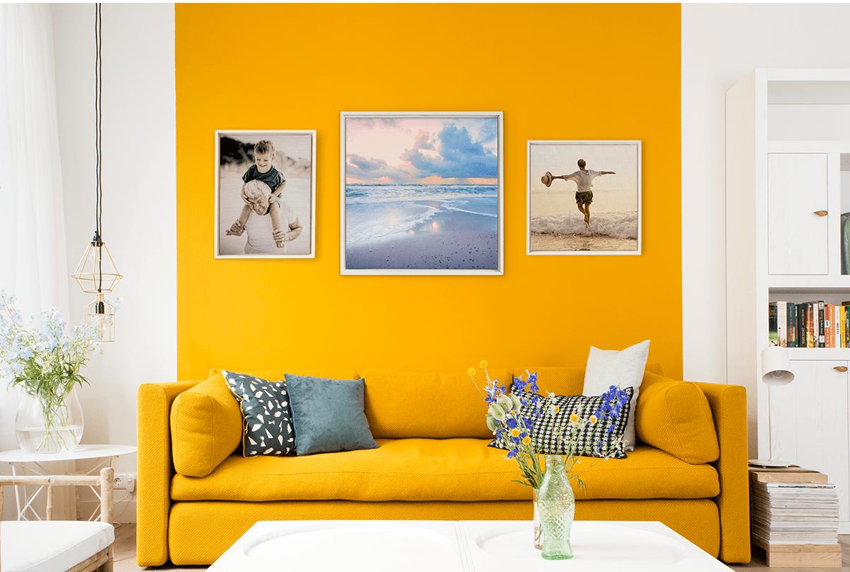 so gestaltest du eine fotowand und verleihst deinem wohnraum neues leben albelli blog. Black Bedroom Furniture Sets. Home Design Ideas