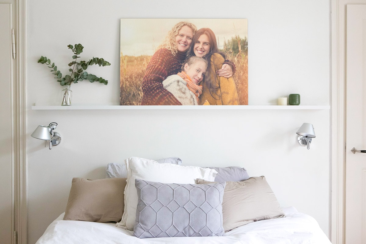 Mother's Day gift ideas photo on canvas mural