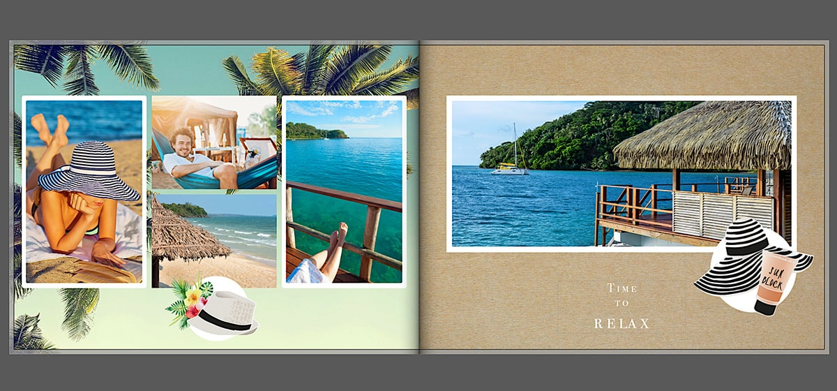Album photo vacances inspiration mise en page