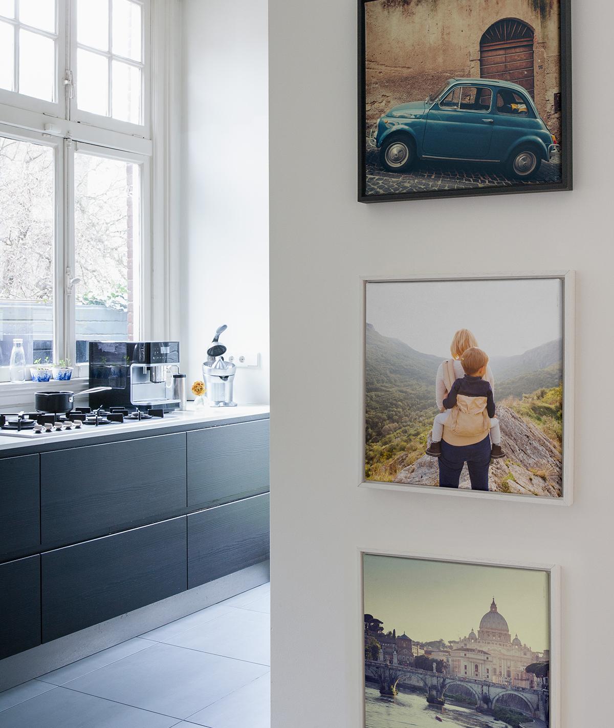 Zo maak je een fotowand en geef je je interieur een nieuwe for Idee fotowand