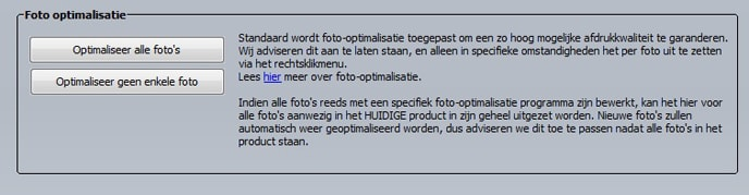 Foto's optimaliseren