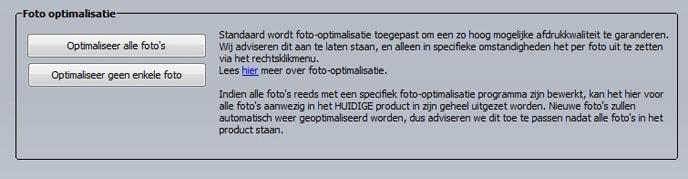 Foto's optimaliseren
