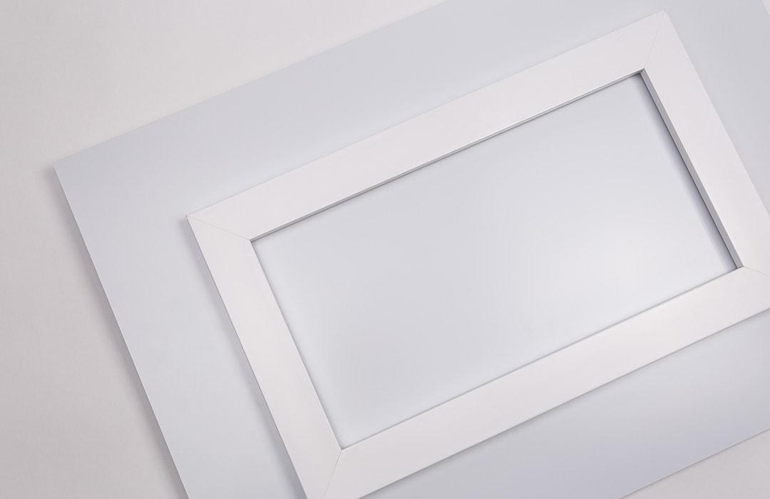 Foto op aluminium ophangsysteem