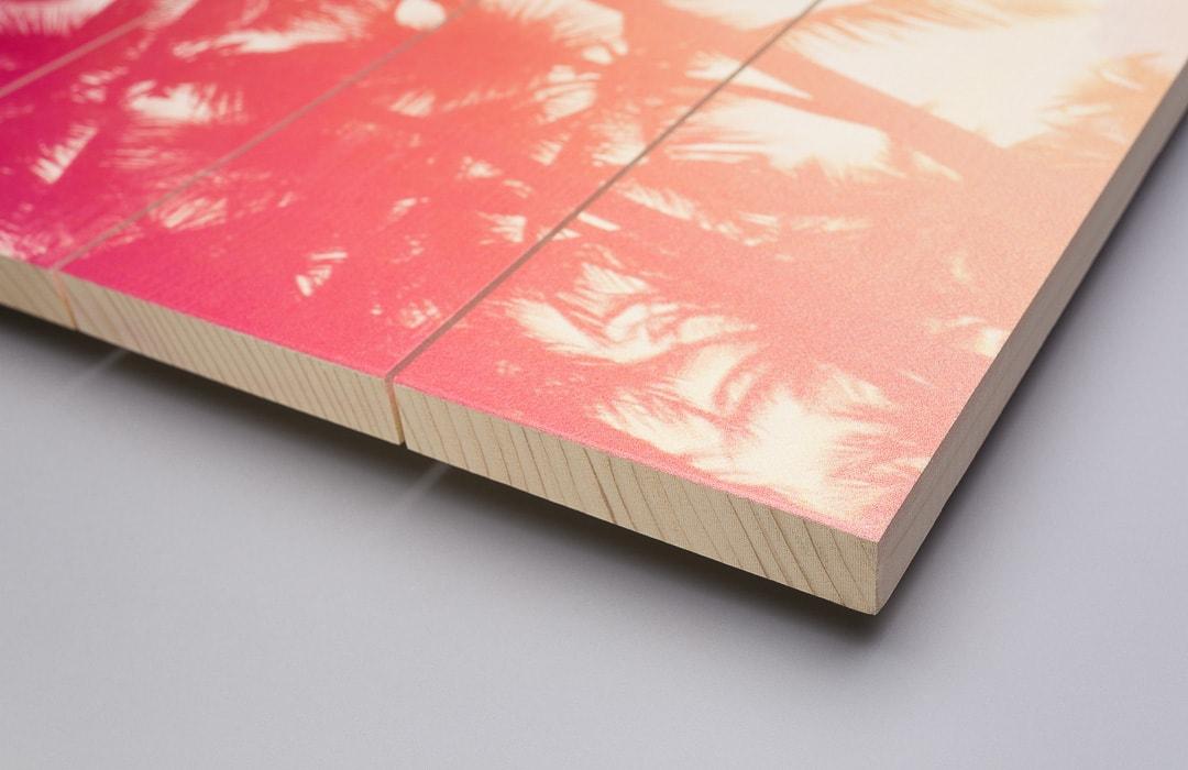 Foto op hout detail