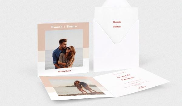 Vierkante fotokaarten