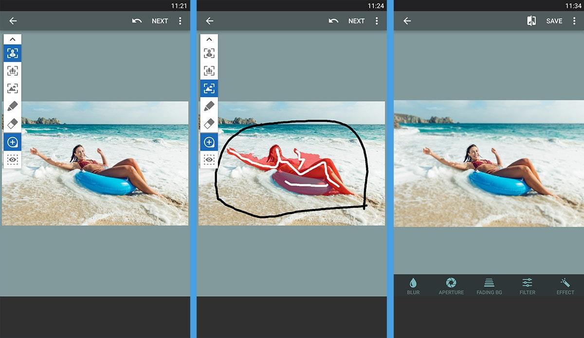 ljusa upp bilder app