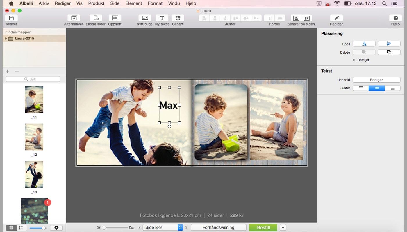 fotobokverktoy-mac-tekst