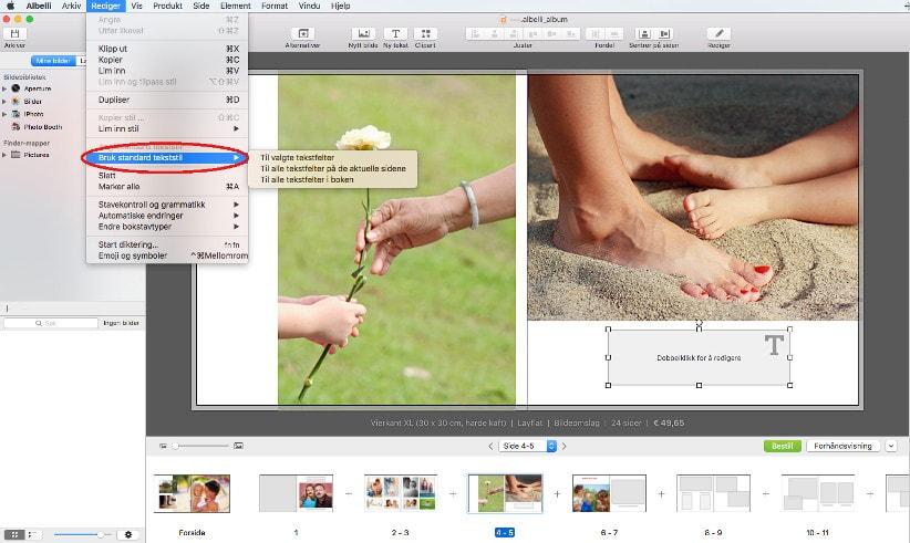 Fotobokprogram for Mac - versjon 3.5
