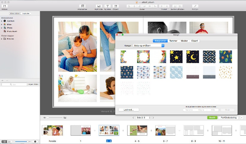Fotobokprogram for Mac - versjon 3.5