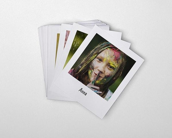 Fremkalle bilder som polaroid