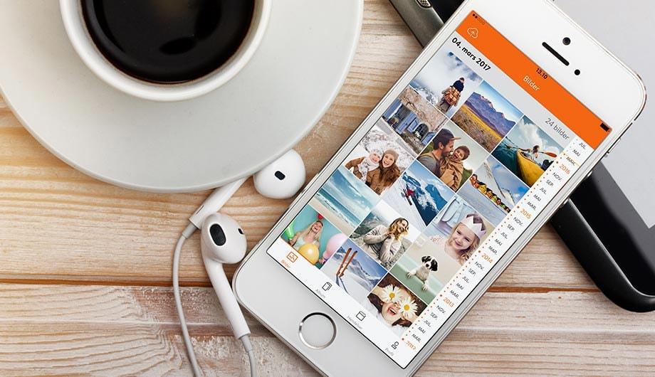 Overfør bilder fra mobilen med Minnebanken-appen