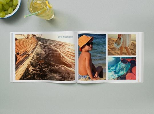 Fotobok med stivt omslag 28x21 cm