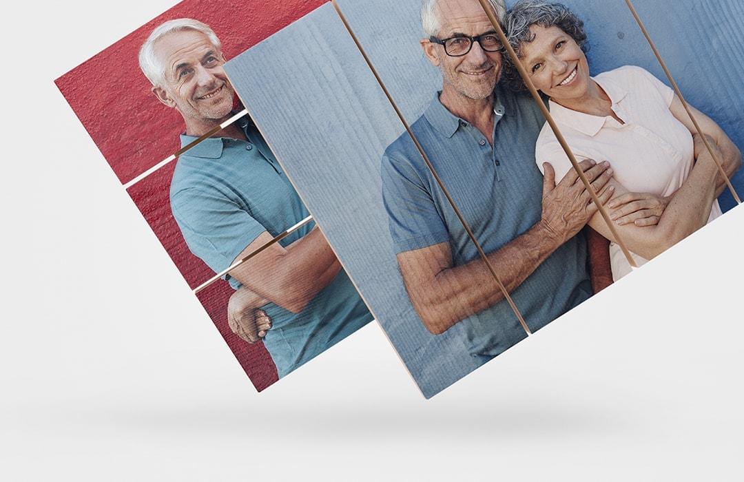 Illustasjon plankeretning bilder på tre