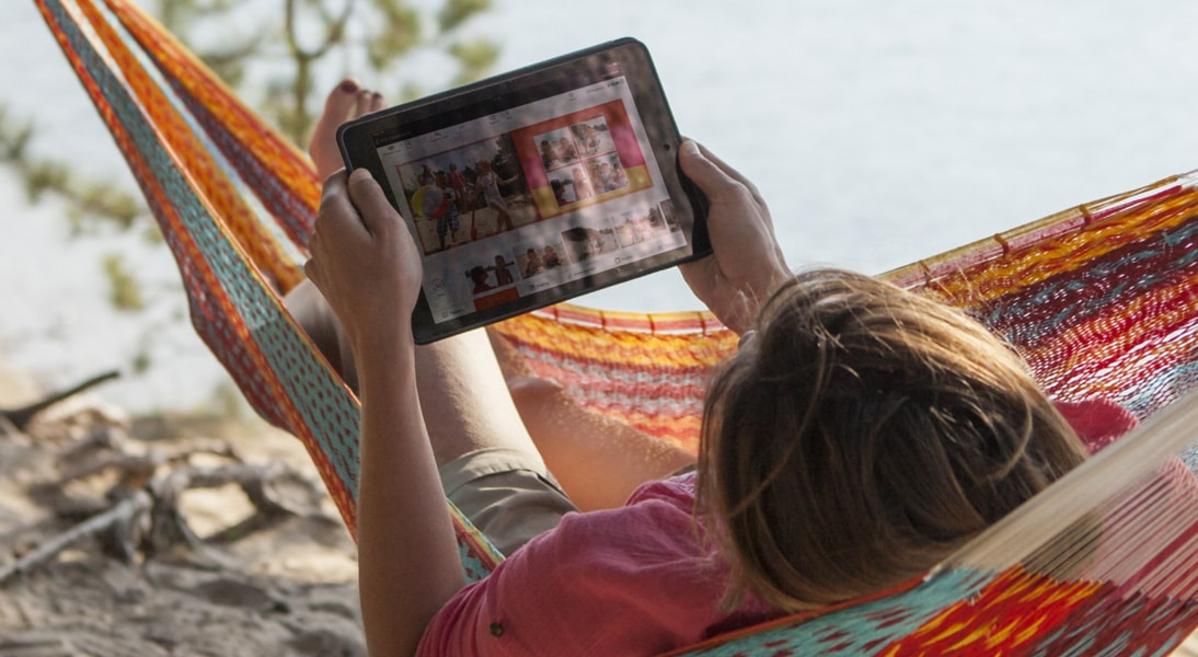 Create a photo book with the bonusprint iPad app