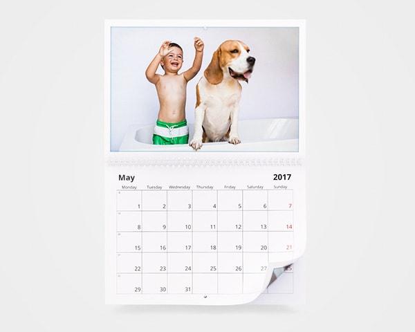 Double A4 Year Calendar
