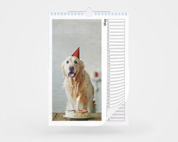 A4 Birthday Calendar
