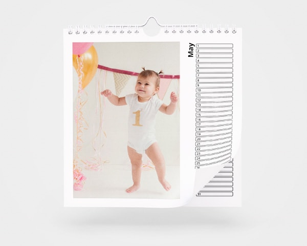 Square Birthday Calendar