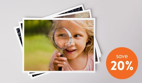 Photo prints 20% discount