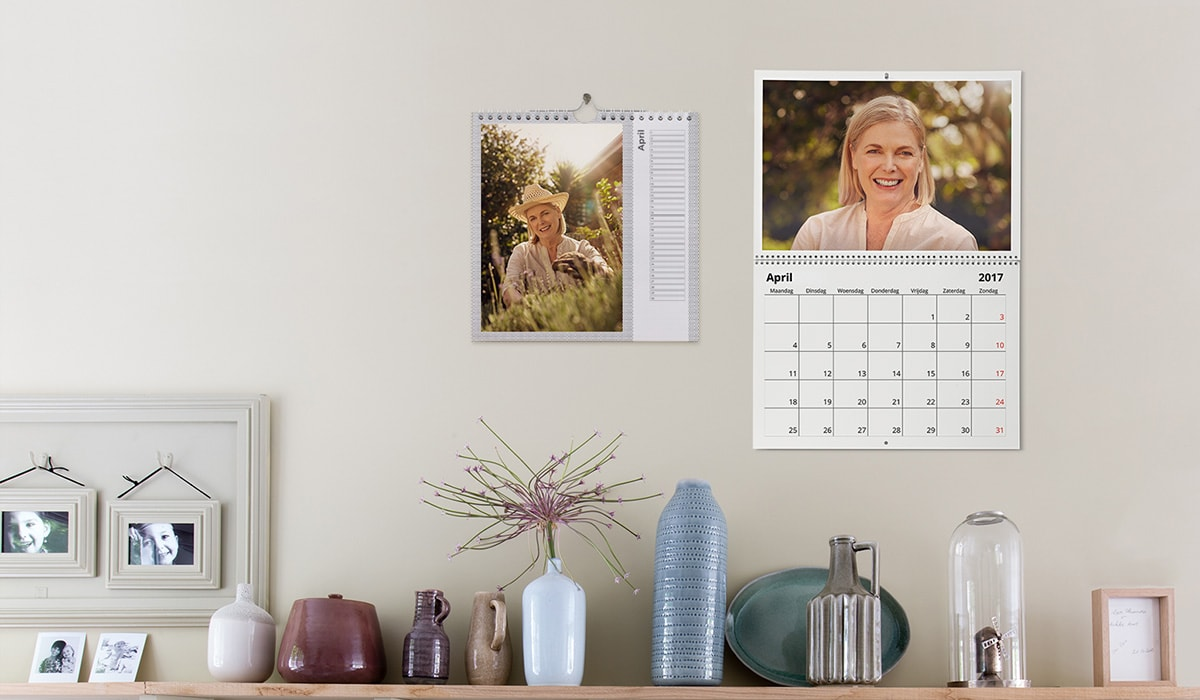 Birthday gift idea photo calendars