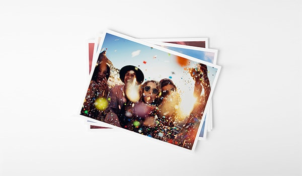 Print photos with white border