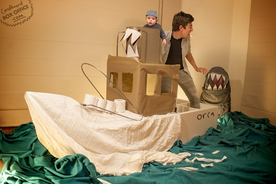 Le Box-Office en carton de Leon et Lilly : Jaws