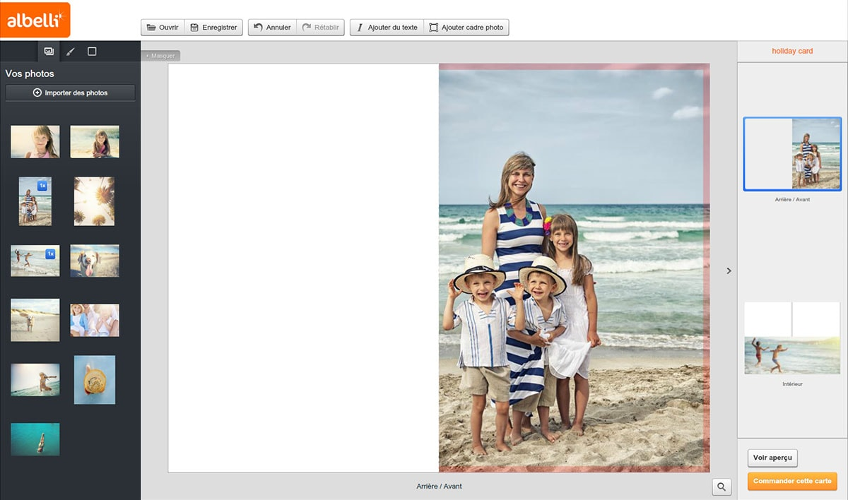 Votre carte postale personnalisée avec vos photos de vacances   monalbumphoto