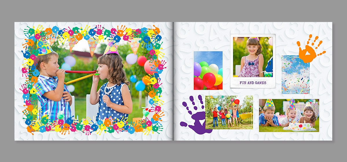 livre photo anniversaire associations couleurs